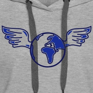 earth with wings Hoodies & Sweatshirts - Women's Premium Hoodie