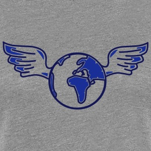earth with wings T-shirts - Premium-T-shirt dam