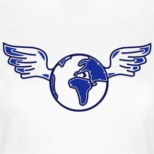 earth with wings Camisetas - Camiseta mujer
