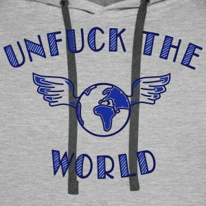unfuck the world Pullover & Hoodies - Männer Premium Hoodie