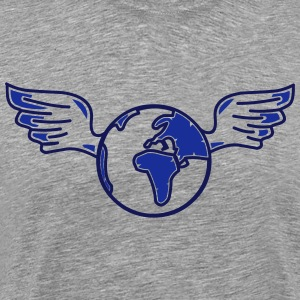earth with wings T-Shirts - Men's Premium T-Shirt
