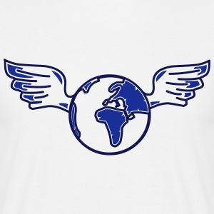 earth with wings T-shirts - Mannen T-shirt