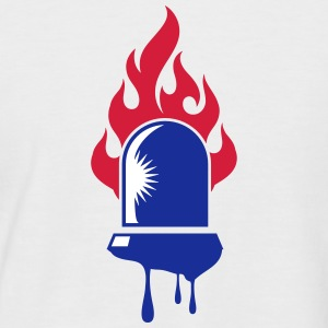 rotating blue beacon light-Fire department T-Shirts - Men's Baseball T-Shirt