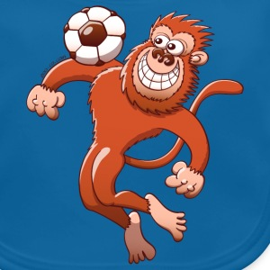 Monkey Trapping a Foot Ball with its Chest Accessories - Baby Organic Bib