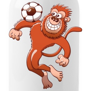Monkey Trapping a Foot Ball with its Chest Bottles & Mugs - Water Bottle