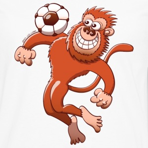 Monkey Trapping a Foot Ball with its Chest Long sleeve shirts - Men's Premium Longsleeve Shirt