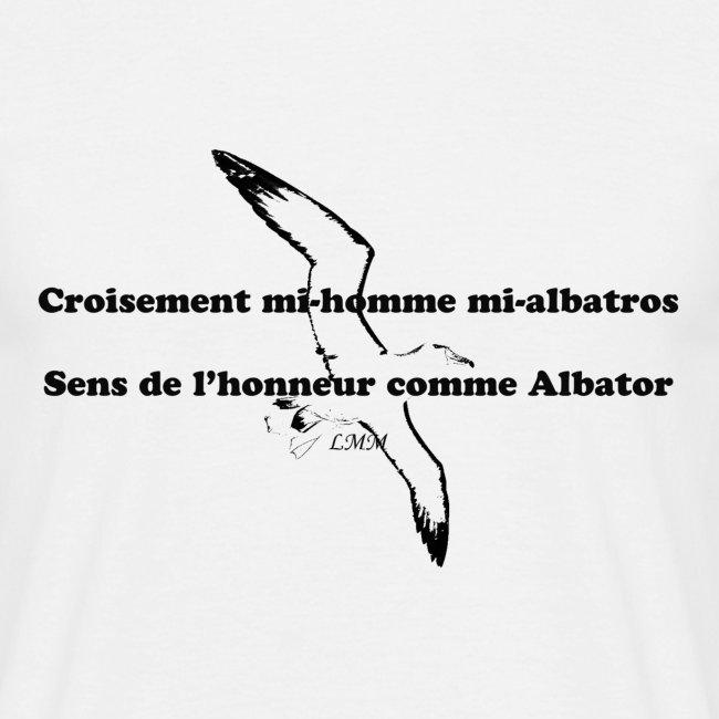 "T-shirt homme blanc ""Albatros"""