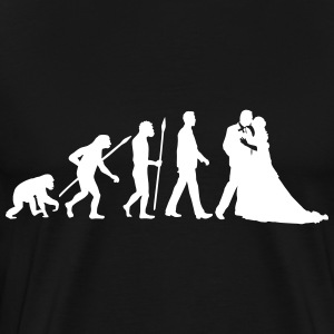 evolution_of_man_wedding_a_1c T-Shirts - Männer Premium T-Shirt