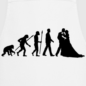 evolution_of_man_wedding_a_1c Schürzen - Kochschürze