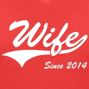 Wife Since 2014 T-Shirts - Women's V-Neck T-Shirt