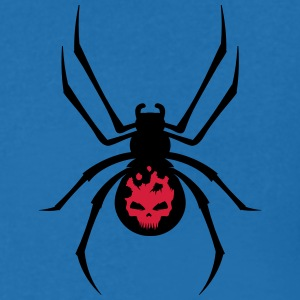 A black spider with red skull T-Shirts - Men's V-Neck T-Shirt