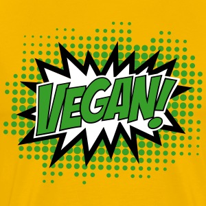 Vegan, Comic Book Style, Green, Explosion, 3c T-Sh - Men's Premium T-Shirt