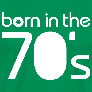 born in the 70´s T-skjorter - Premium T-skjorte for menn