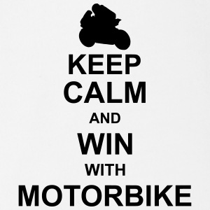 keep_calm_and_win_with_motorbyke_g1 Shirts - Baby bio-rompertje met korte mouwen
