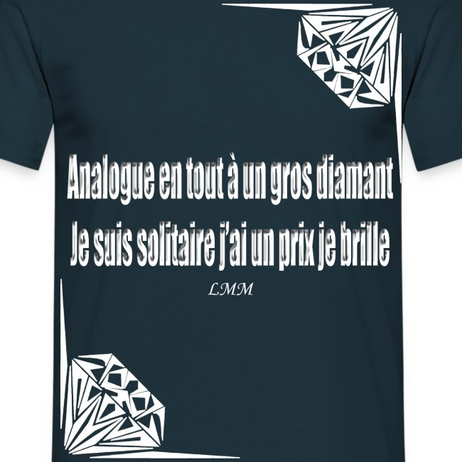"T-shirt homme bleu ""Solitaire"""