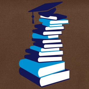 A stack of books with a mortarboard  Bags & Backpacks - Shoulder Bag