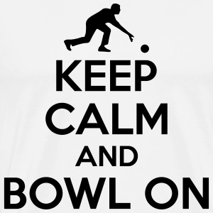 Bowling: Keep calm and bowl on T-shirts - Herre premium T-shirt