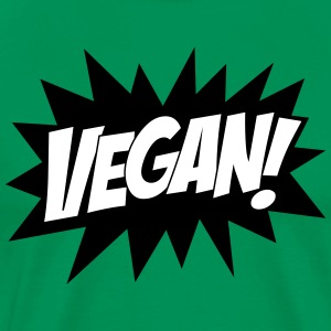 Vegan, Comic Book Style, Green, Explosion,  T-shirts - Herre premium T-shirt