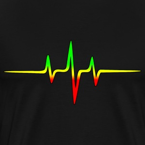 Reggae, music, notes, pulse, frequency, Rastafari  - Men's Premium T-Shirt