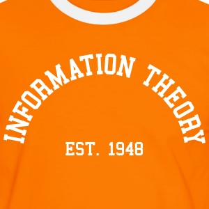 Information Theory - Est. 1948 (Half-Circle) T-Shirts - Men's Ringer Shirt