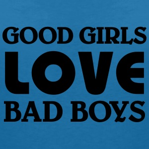 Good girls love bad Boys T-skjorter - T-skjorte med V-utsnitt for kvinner