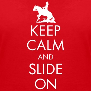 Keep Calm and Slide On - Ladies T-Shirts - Frauen T-Shirt mit V-Ausschnitt
