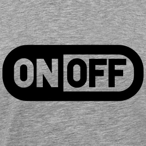 Switch off on off power T-Shirts - Men's Premium T-Shirt