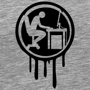 Computer desk graffiti logo T-Shirts - Men's Premium T-Shirt