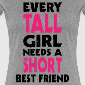 (TALL GIRL - SHORT GIRL) BFF T-Shirts - Women's Premium T-Shirt
