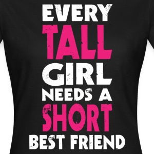 (TALL GIRL - SHORT GIRL) BFF T-Shirts - Women's T-Shirt