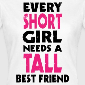 (SHORT GIRL - TALL GIRL) BFF T-Shirts - Women's T-Shirt