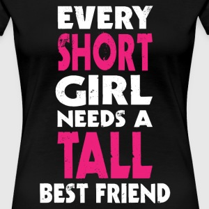 (SHORT GIRL - TALL GIRL) BFF T-Shirts - Women's Premium T-Shirt