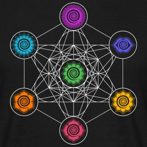 Metatrons Cube, Chakras, Cosmic Energy Centers Tee shirts - T-shirt Homme