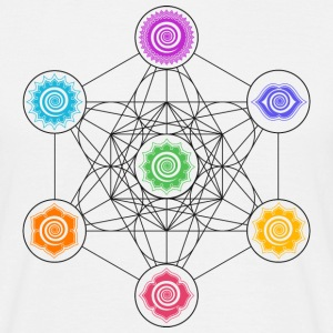 Metatrons Cube, Chakras, Cosmic Energy Centers,  Tee shirts - T-shirt Homme