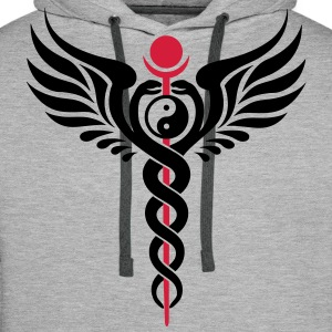 Caduceus, Yin Yang, Winged Serpent, Hermetic Sweat-shirts - Sweat-shirt à capuche Premium pour hommes