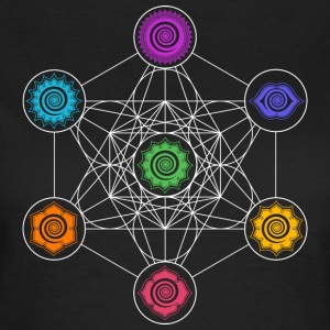 Metatrons Cube, Chakras, Cosmic Energy Centers Tee shirts - T-shirt Femme