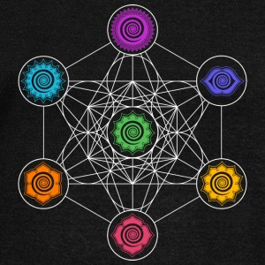 Metatrons Cube, Chakras, Cosmic Energy Centers Hoodies & Sweatshirts - Women's Boat Neck Long Sleeve Top