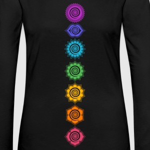 7 Chakras, Kundalini, Cosmic Energy Centers Manches longues - T-shirt manches longues Premium Femme