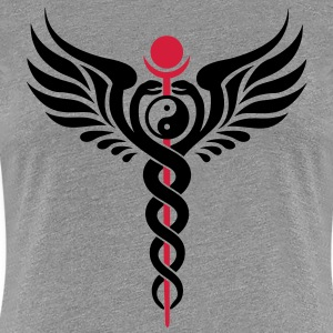 Caduceus, Yin Yang, Winged Serpent, Hermetic T-skjorter - Premium T-skjorte for kvinner