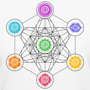 Metatrons Cube, Chakras, Cosmic Energy Centers,  Magliette - T-shirt ecologica da donna