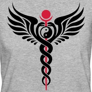 Caduceus, Yin Yang, Winged Serpent, Hermetic T-Shirts - Frauen Bio-T-Shirt