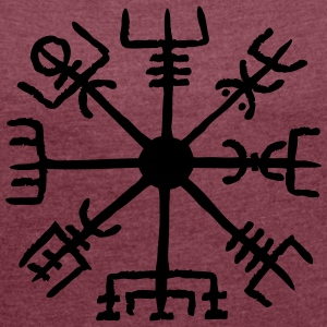Vegvisir, Magic, Runes,  Protection & Navigation T-shirts - Dame T-shirt med rulleærmer