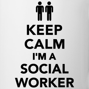 Keep calm I'm Social worker Flaschen & Tassen - Tasse