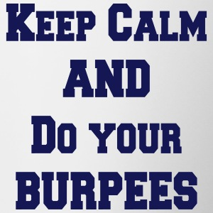 Keep calm and do your burpees Kopper & flasker - Tofarget kopp