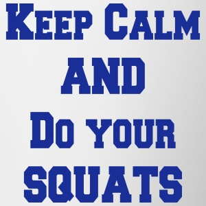 Keep calm and do your squats Kopper & flasker - Tofarget kopp