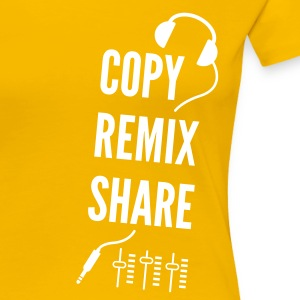 copy remix share T-Shirts - Frauen Premium T-Shirt