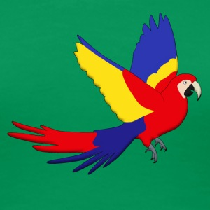 Macaw red fly D T-shirts - Dame premium T-shirt