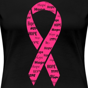 Breast Cancer Hope Ribbon T-Shirts - Women's Premium T-Shirt
