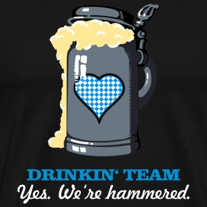 drinkin' team - yes. we're hammered (2c) T-Shirts - Men's Premium T-Shirt