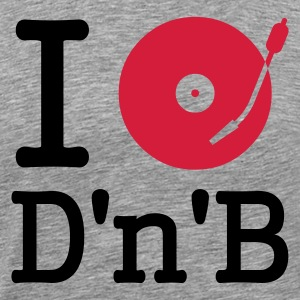 i dj play listen to dum and bass - Maglietta Premium da uomo